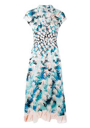 Temperley London garden Cacti Dress - Blue