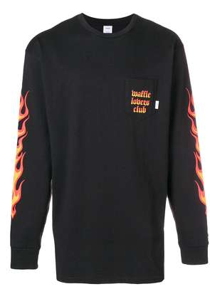 Vans flame long-sleeve sweatshirt - Black