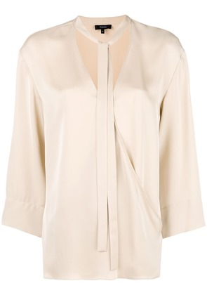 Theory VIP v-neck bouse - Nude & Neutrals