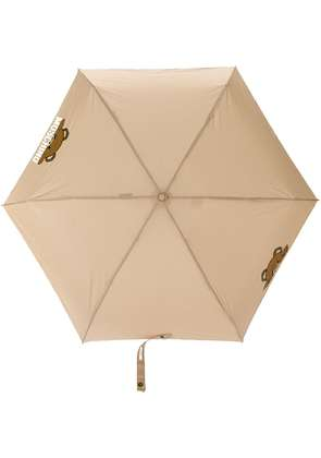 Moschino bear detail umbrella - Nude & Neutrals