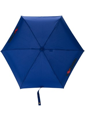 Moschino fold down umbrella - Blue