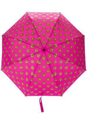 Moschino bear print umbrella - Pink & Purple