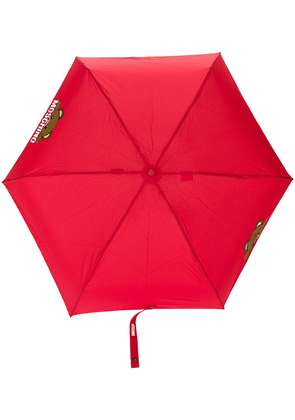 Moschino bear detail umbrella - Red