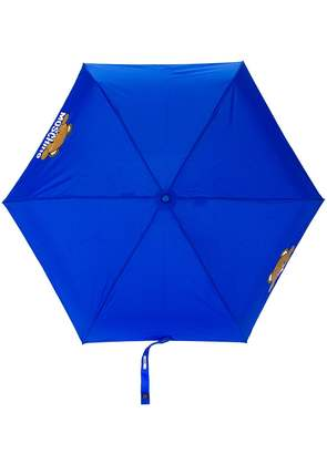 Moschino bear detail umbrella - Blue