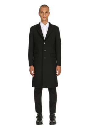 SINGLE BREASTED COMPACT WOOL COAT