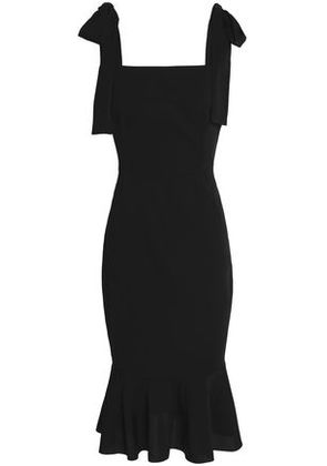 Dolce & Gabbana Woman Fluted Silk-blend Crepe Dress Black Size 46