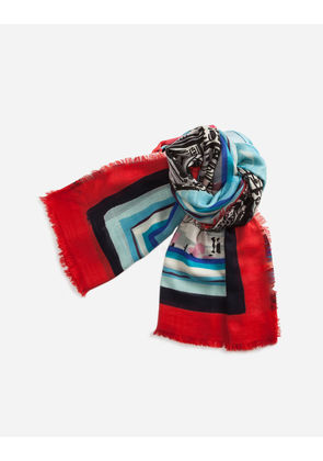 Dolce & Gabbana Scarves and Silks - PRINTED CASHMERE AND SILK SHAWL MULTICOLOR
