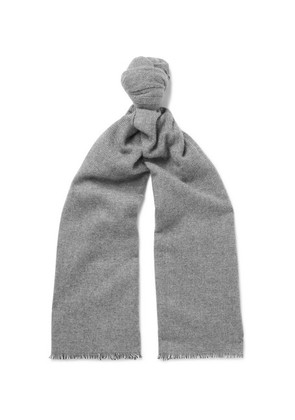 Anderson & Sheppard - Pinhead Cashmere And Wool-blend Scarf - Gray