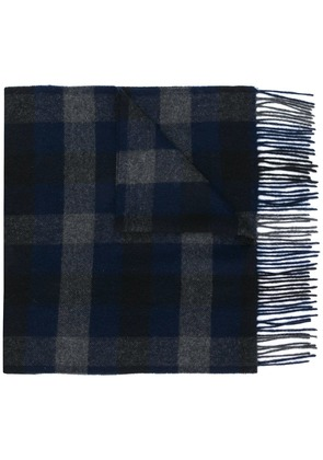 Theory checked scarf - Black