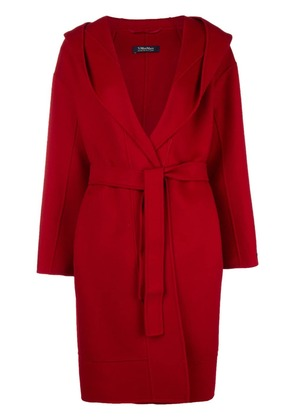 'S Max Mara long belted coat - Red