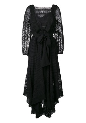 Zimmermann embroidered draped dress - Black
