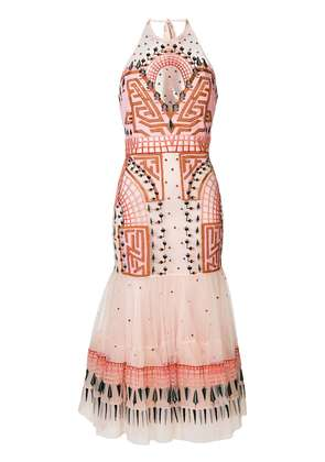 Temperley London Maze midi dress - Pink & Purple