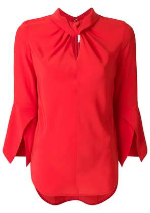 Victoria Beckham ruched collar blouse - Red