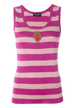 Dolce & Gabbana Heart embroidered top - Pink & Purple