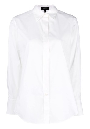 Theory plain fitted shirt - White