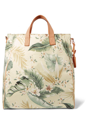 Zimmermann - Tropical Palm Printed Canvas Tote - Gray green