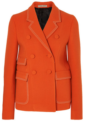 Bottega Veneta - Double-breasted Wool-blend Blazer - Orange