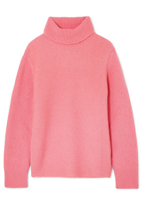 Cédric Charlier - Ribbed Wool And Cashmere-blend Turtleneck Sweater - Pink