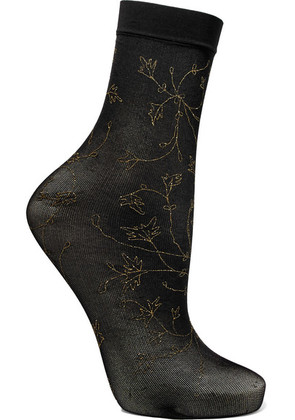 Falke - Sakura Glittered 20 Denier Socks - Black