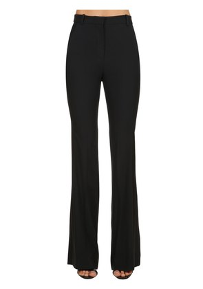 HIGH WAIST BOOT CUT CREPE SMOKING PANTS