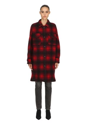 GARIO OVERSIZE WOOL BLEND PLAID COAT