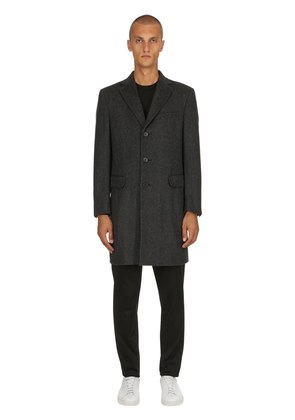 TEXTURED BEAVER WOOL COAT