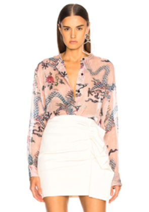 Isabel Marant Daws Top in Pink