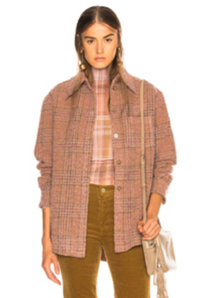 Acne Studios Plaid Fannel Shirt in Pink