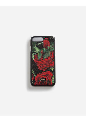 Dolce & Gabbana Hi-Tech Accessories - IPHONE 7/8 PLUS COVER WITH PRINTED DAUPHINE CALFSKIN DETAIL FLORAL PRINT