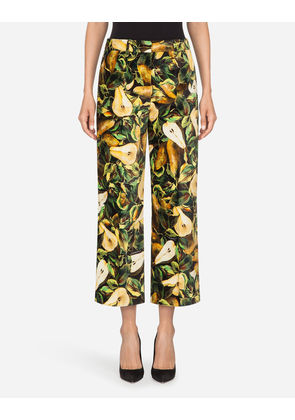 Dolce & Gabbana Trousers and Leggings - PRINTED VELVET PANTS MULTI-COLORED