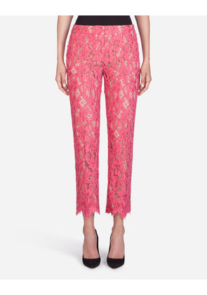 Dolce & Gabbana Trousers and Leggings - LACE PANTS PINK