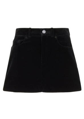 SAINT LAURENT Velvet Shorts