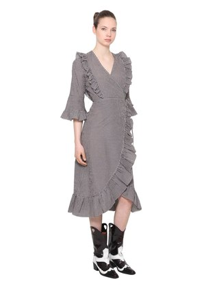 CHARRON TECH COTTON WRAP DRESS