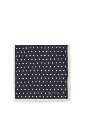 Polka-dot silk-twill pocket square