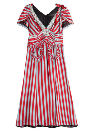 Marc Jacobs Striped Dress with Sequin and Crystal Embellishment