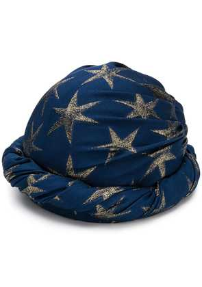 Gucci star patterned hat - Blue