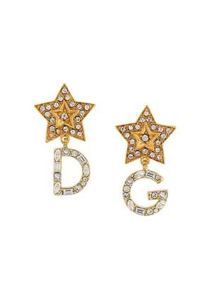 Dolce & Gabbana DG drop earings - Metallic
