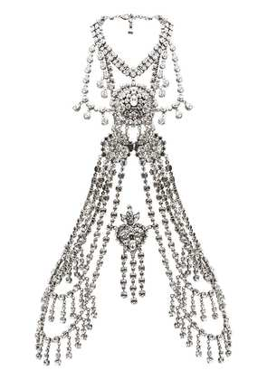 Gucci crystal body chain - White