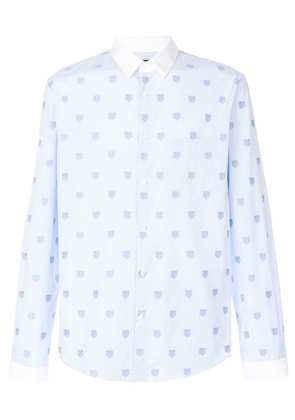 Gucci tiger print shirt - Blue