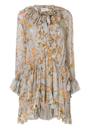 Zimmermann tapestry print blouse - Grey
