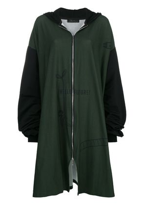 Barbara Bologna zipped super oversized hoodie - Green