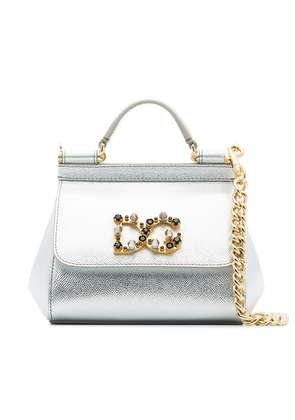 Dolce & Gabbana Metallic leather small Sicily shoulder bag