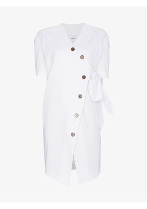 Nanushka Shortsleeved wrap dress with buttons