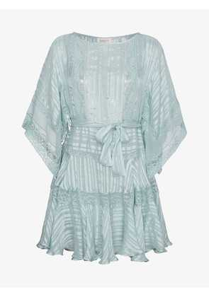Zimmermann Silk Whitewave Veil Mini Dress