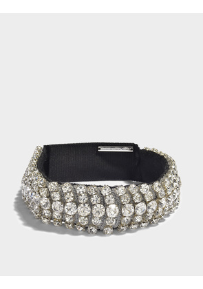 Christopher Kane Crystal Choker Necklace in Clear White Metal