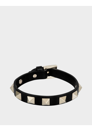 Valentino Garavani ROCKSTUD SMALL LEATHER BRACELET