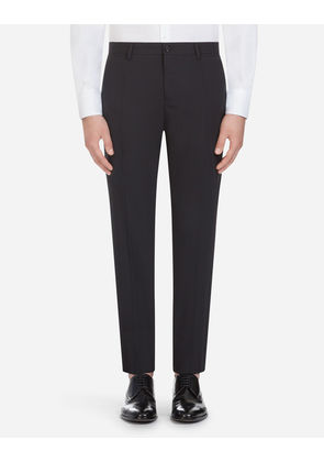 Dolce & Gabbana Trousers - TROUSERS IN STRETCH WOOL BLACK