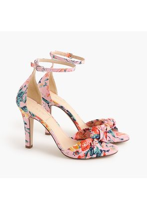 Knotted high-heel sandals in Liberty floral