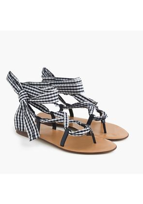Wrap-around sandal in gingham