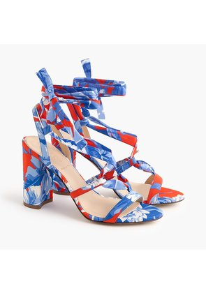 Wrap-around heels (100mm) in Ratti Rio floral